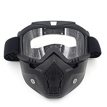 Máscara de la Motocicleta,AZXES,Gafas Desmontable Máscaras Faciales,Anteojos del Casco de