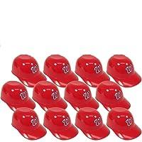 MLB Mini Batting Helmet Ice Cream Sundae/ Snack Bowls, Nationals - 12 Pack