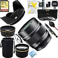 Olympus M.ZUIKO DIGITAL ED 75mm f1.8 (Black) Lens (V311040BU000) + 64GB Ultimate Filter Bundle
