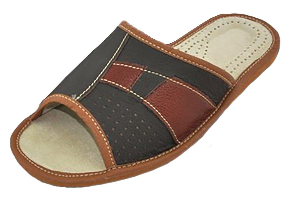 Pantoufles Chaussons | Cuir Pantoufles Véritable |Homme | | Chaussons 413 Brun 66e625e - shopssong.space