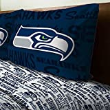 3pc NFL Seattle Seahawks Twin Bed Sheet Set Football Team Anthem Bedding Accessories