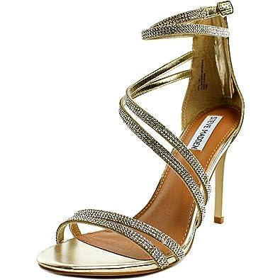 Steve Madden Fiffi Women US 10 Silver Heels