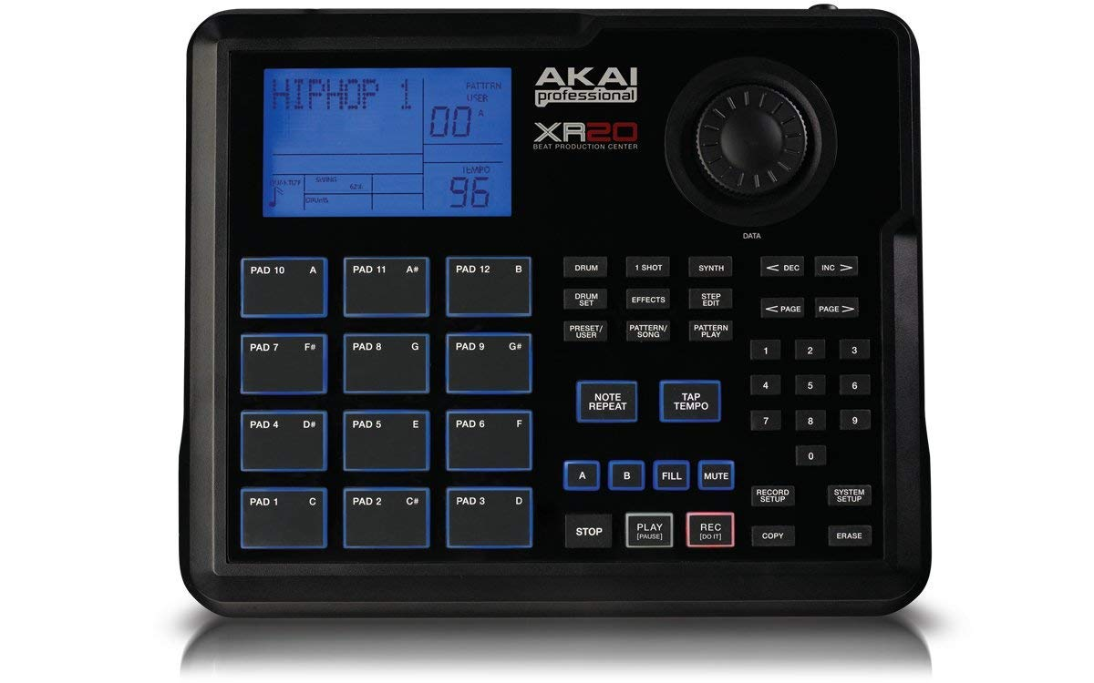 Akai Professional XR20 | Beat Production Station Drum Machine + Studio Headphones + Stereo Interconnect Cable & Clean Cloth by Akai (Image #2)