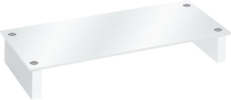 TV-Board MAJA M/öbel Fernsehst/änder in Wei/ßglas 82x12,4x35cm Lowboard