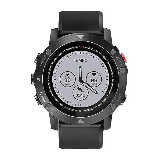 LEMFO 4.2 Inteligente Reloj Smartwatch Pulsera Inteligente con GPS Pulsera Móvil Monitor de Ritmo Cardíaco Sueño