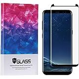 Samsung Galaxy S8 Plus ガラスフィルム [ケースと干渉しない] ブラック ギャラクシー S8 プラス フィルム [Danyee安心交換保証付] 9H硬度 0.2mm 耐指紋性 油性コーティング 気泡防止 (S8 Plus Black)