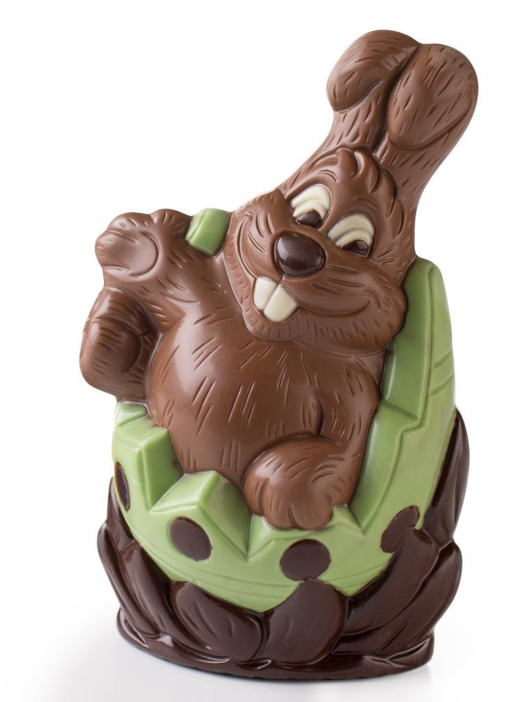 Amazon large chocolate easter bunny in egg shell hand amazon large chocolate easter bunny in egg shell hand painted milk chocolate for your easter basket grocery gourmet food negle Image collections