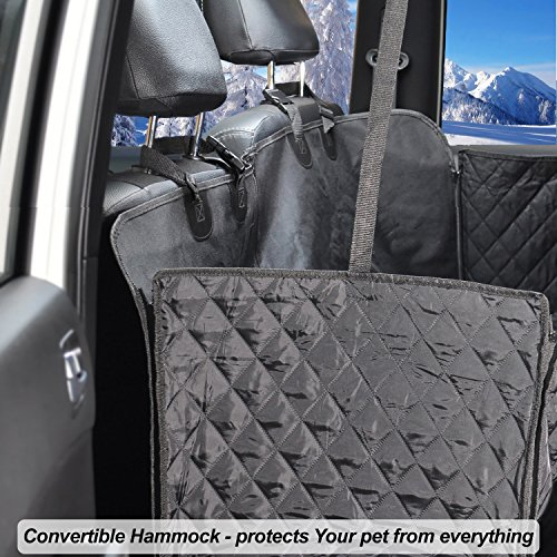 Dog Car Seat Covers Set - Pet Seat Covers Set - Dog Car Seat Covers WaterProof - Heavy Duty Dog Seat Cover WaterProof - Dog Car Seat Covers Heavy Duty - Vehicle Seat Covers for Dogs - HAMMOCK black by FG [FamilyGroup] (Image #7)