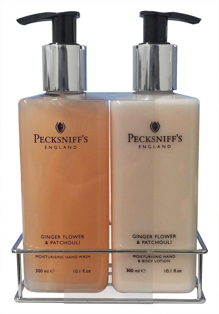 Pecksniff's Ginger Flower & Patchouli Nourishing Hand Wash & Body Lotion Set 10.1 oz Pecksniffs