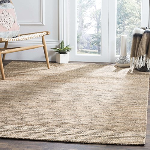 - Safavieh CAP503A-4 Cape Cod Collection Flat Weave Handmade Area Rug, 4' x 6', Natural