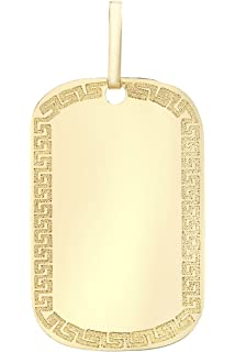 Carissima Gold 9ct Yellow Gold Parchment Scroll Pendant on a Curb Chain of Length 45.72cm