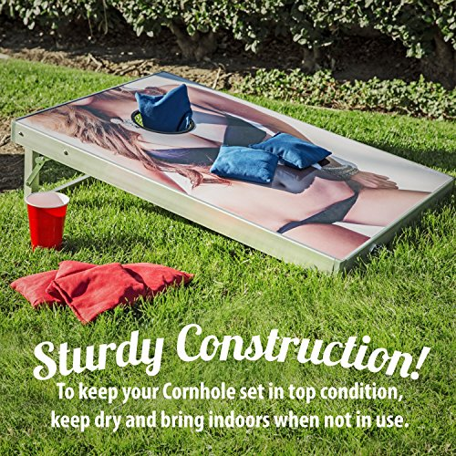 "CAN'T STOP PARTY SUPPLIES Set of 8 Regulation Size 6"" x 6"" Cornhole Bean Bags OR Cornhole Board Game Set with 2 Boards and 8 Beanbags"