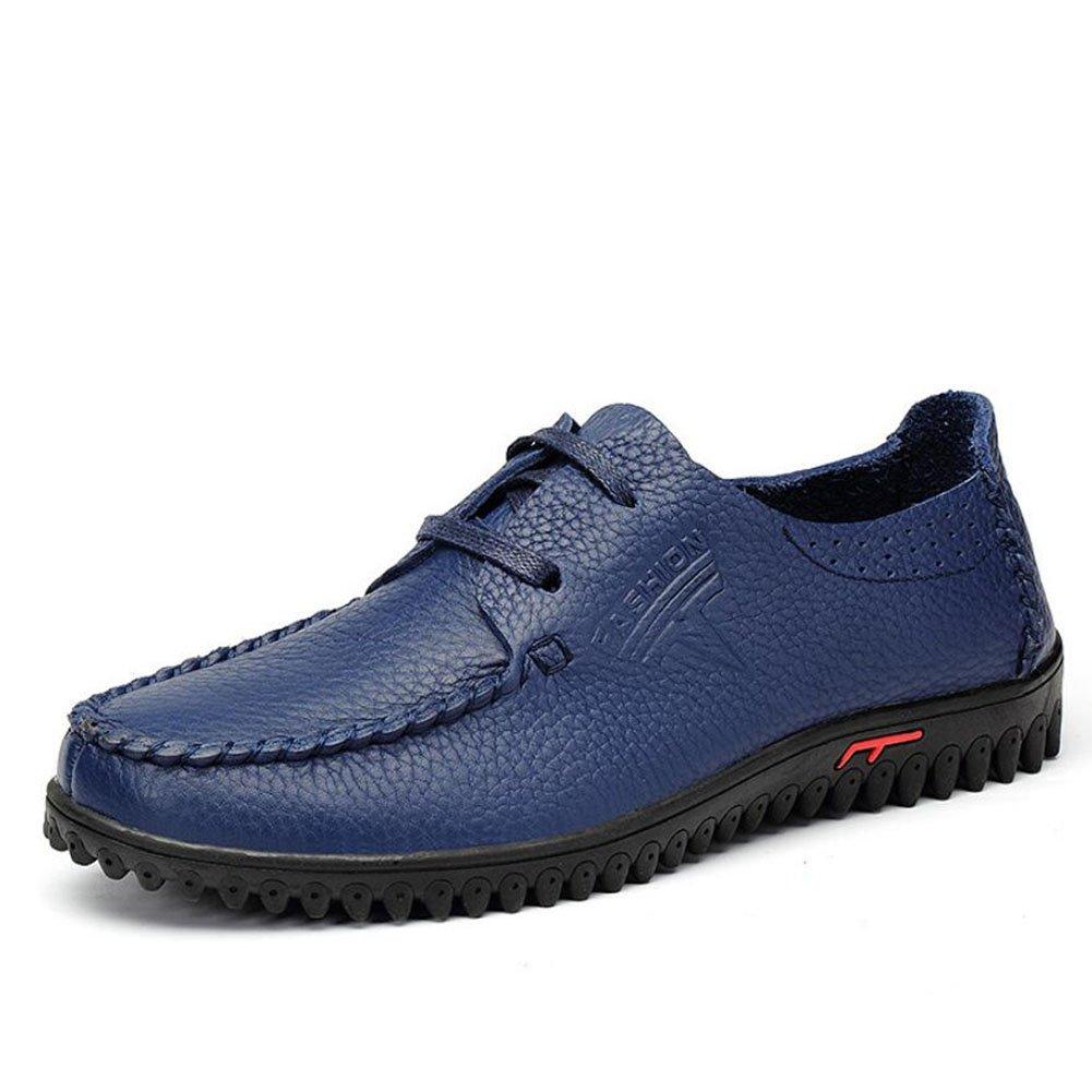 CAI Herrenschuhe Frühling Sommer Sommer Frühling Herbst Mann große Größe weichen Boden Freizeit Outdoor-Reisen einzelne Schuhe gelb braun blau (Farbe   Blau, Größe   38) f3f7e4