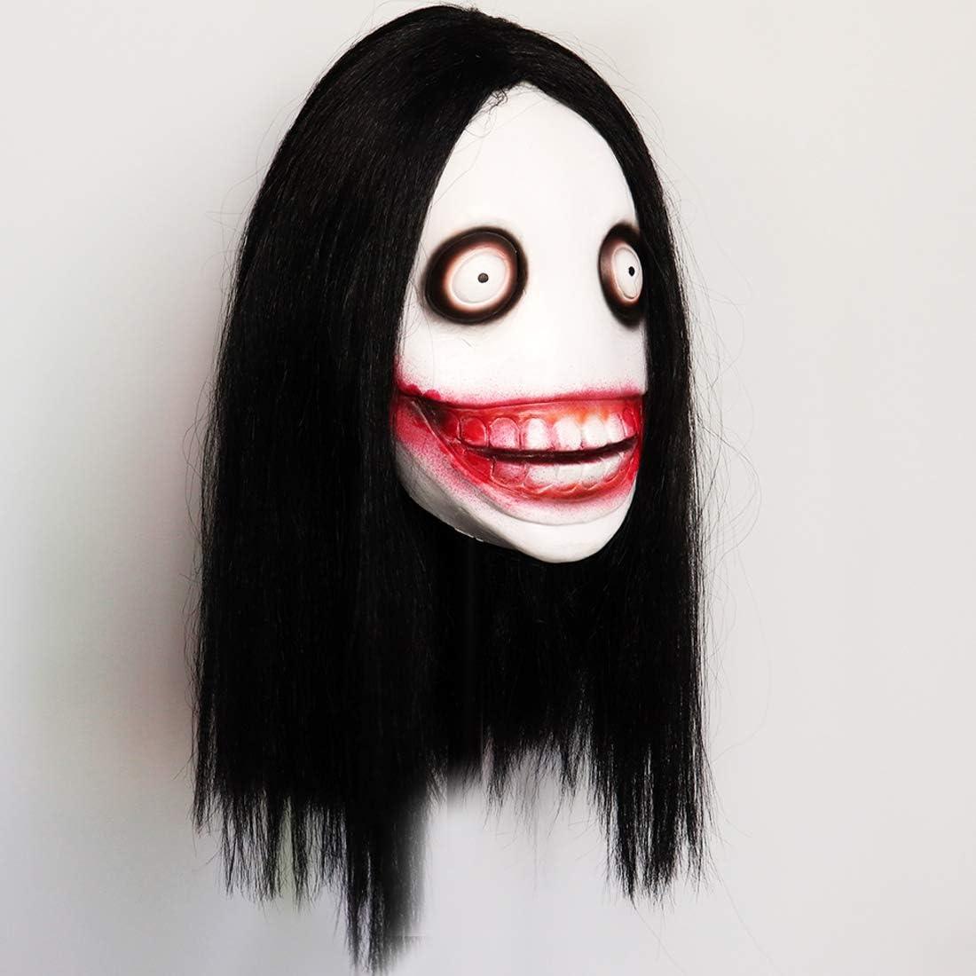 FAICCIA Máscara de látex Jeff The Killer para Disfraz de Halloween ...