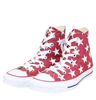 f5cc9f366d72 Converse CT All Star 136615C Hi Spec Womens Trainers SS13 Jester Red White  UK6