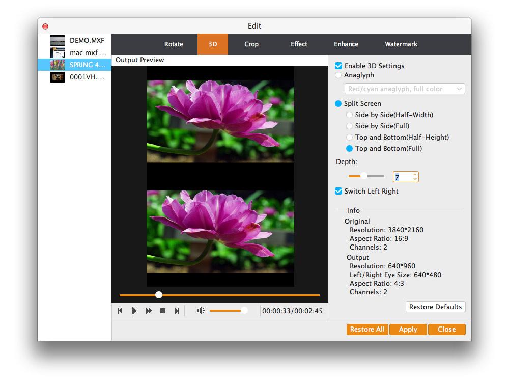 Mac Video Converter Ultimate - The best Mac video software