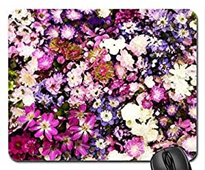 Flowers For All Friends Mouse Pad, Mousepad (Flowers Mouse Pad, Watercolor style)