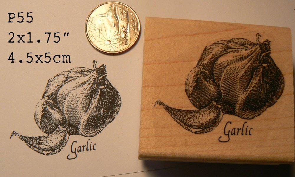 Garlic rubber stamp P55 WM