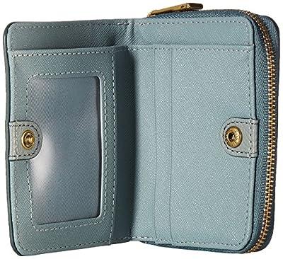 Fossil Emma Rfid Mini Multifunction Steel Blue Wallet