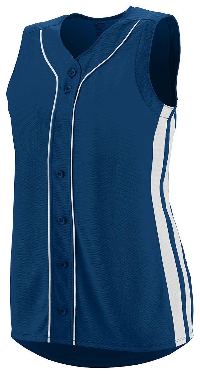 Augusta SportswearレディースWinnerノースリーブSoftball Jersey B01C5G7PMW Small|ネイビー/ホワイト ネイビー/ホワイト Small