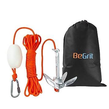 BeGrit Kit de Anclaje de Barco Pequeño, Plegable, Acero al Carbono ...