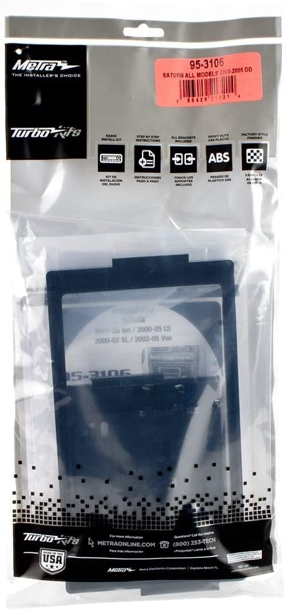 Metra 95-3106 Double DIN Installation Dash Kit for Most 2000-2005 Saturn Vehicles Metra Electronics Corp