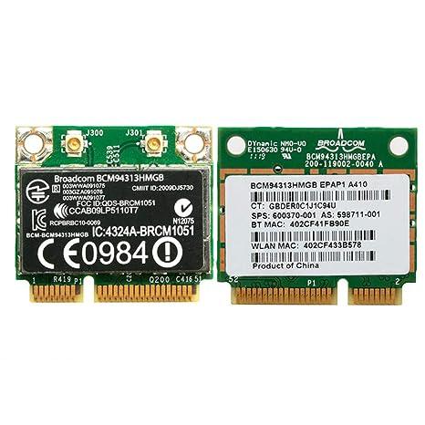 MIUSON Half Mini PCI-E Tarjeta WiFi 802.11 N Bluetooth bcm94313hmgb 600370 – 001 para DELL HP
