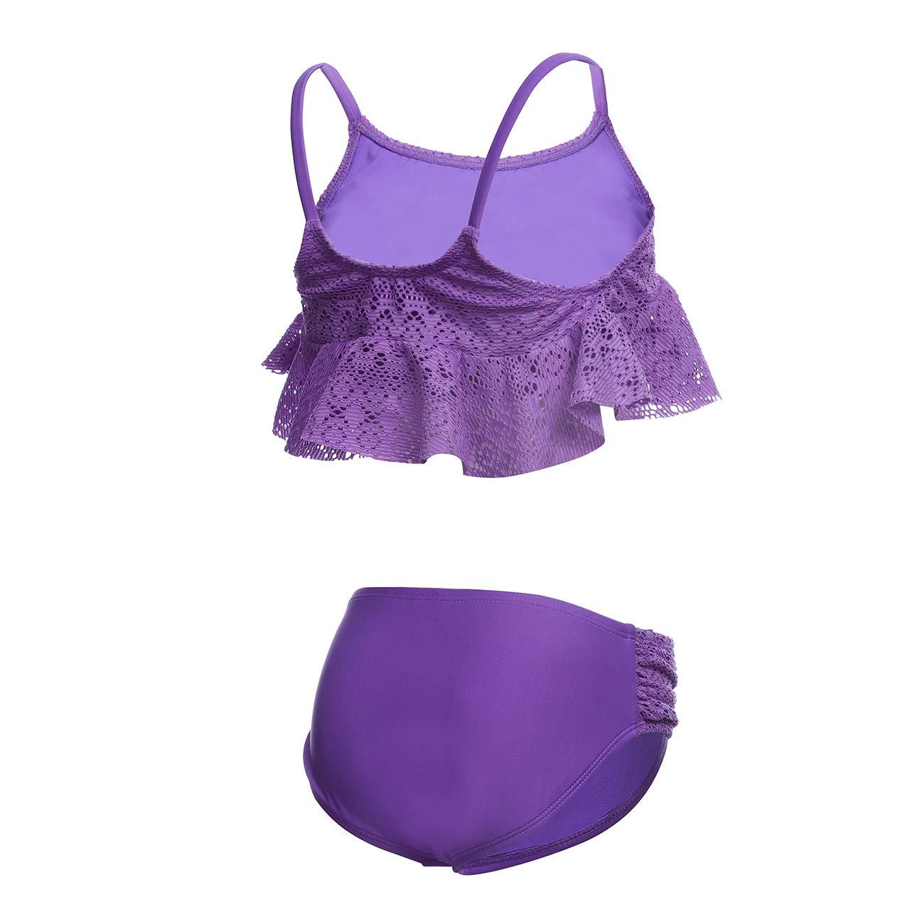 DAYU Girls Fashionable Bikini Set Beach 2 Piece Swimsuit Bathing Suit