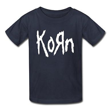 853c104d Amazon.com: OHYEYE Kid's Korn Logo T Shirts For Boys Girls Navy ...