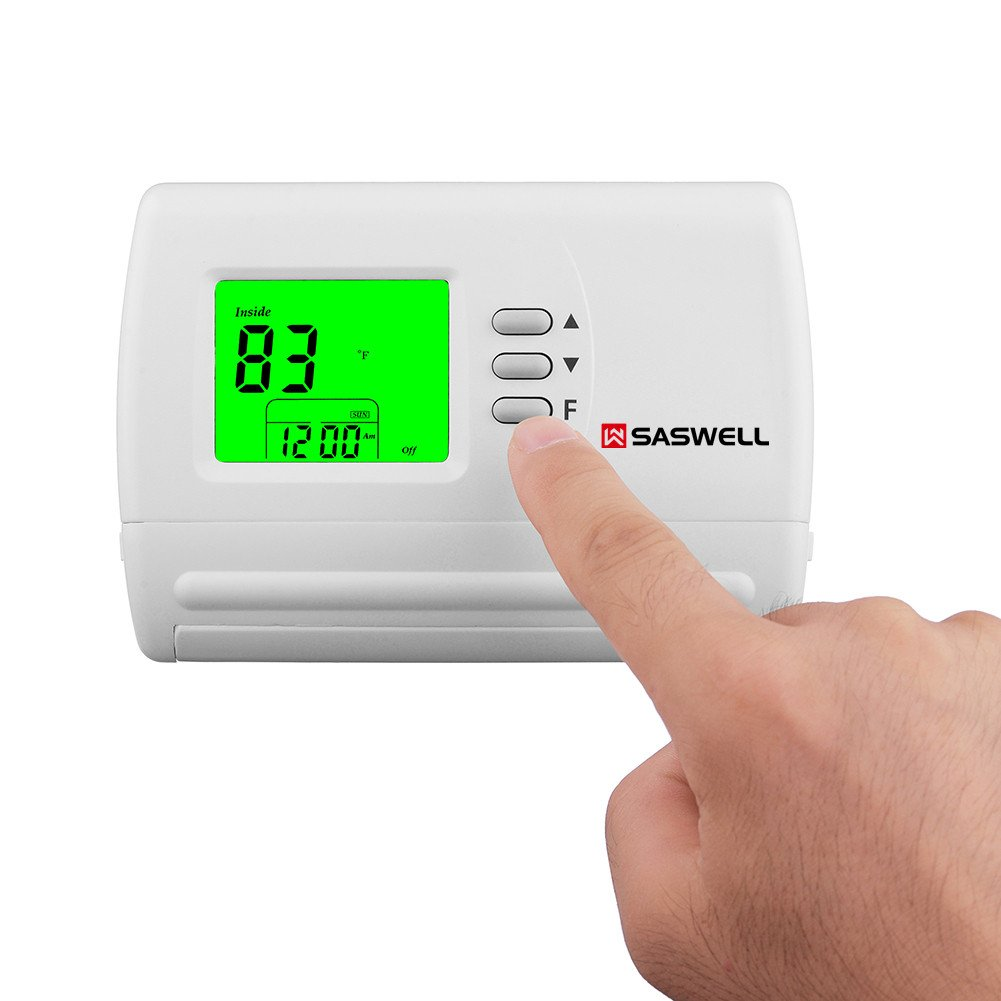Single Stage 5-2 Programmable Thermostat,24 Volt or Millivolt System,1 Heat 1 Cool,Saswell SAS900STK-2 by Saswell (Image #6)