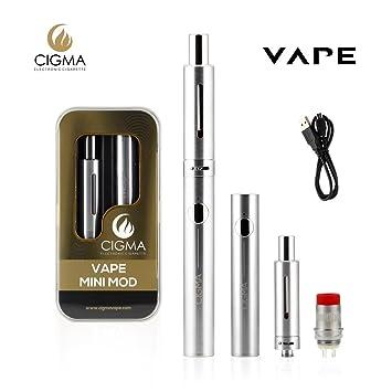 CIGMA Mini Mod 30W 0.6 Ohm Sub ohm Kit de vapeo| Batería recargable de cigarrillo electrónico con LED | FLUJO DE AIRE ajustable | Carga Micro USB | Tanque ...