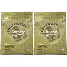 Grab Green Stoneworks Natural Laundry Detergent Pods, 50 Loads, Olive Leaf, 2 Count