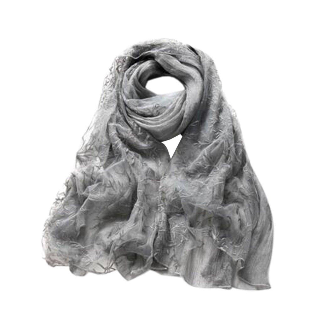 Echarpe en soie à la mode châle envelopper foulards Dentelle broderie  foulards foulard Beige  Amazon.fr  Vêtements et accessoires 8e780a89d08