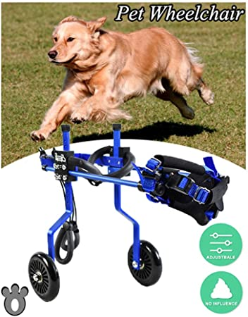 Dog Wheelchair Pet Cart Hind Leg Rehabilitation Help Big Small Dogs Cat Puppy Walking Support Moped Adjustable Multiple Sizes 2 Wheels 1 5kg 3 3lbs 60kg 130lbs Pound Size Xxl 01 Amazon Co Uk Pet Supplies