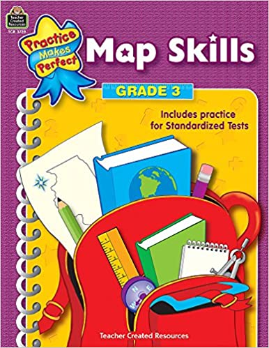 Amazon.com: Map Skills, Grade 3 (Practice Makes Perfect Series ...