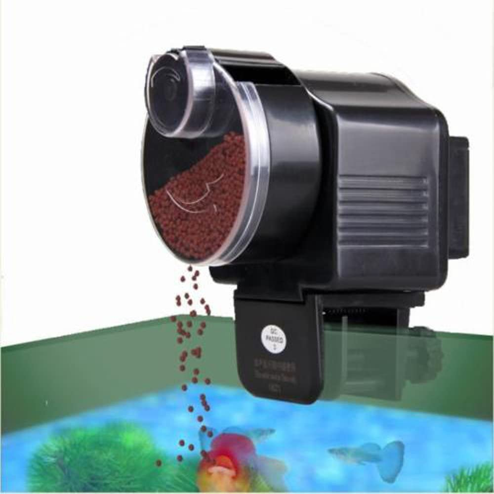 MicroMall Automatic Auto Fish Food Feeder Aquarium Timer Black