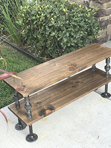 "35"" Shoe Rack,two levels, Closet Organizing, Steampunk Decor, Industrial Decor, Home Decor, Store Decor, Boutique Decor, Closet Organizer, Pipe Shelf"