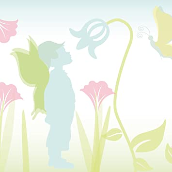 Anna Wand Maxi-Bordüre Selbstklebend Lovely Fairies - Wandbordüre  Kinderzimmer/Babyzimmer mit Feen & Elfen in Rosa-Grün - Wandtattoo  Schlafzimmer ...