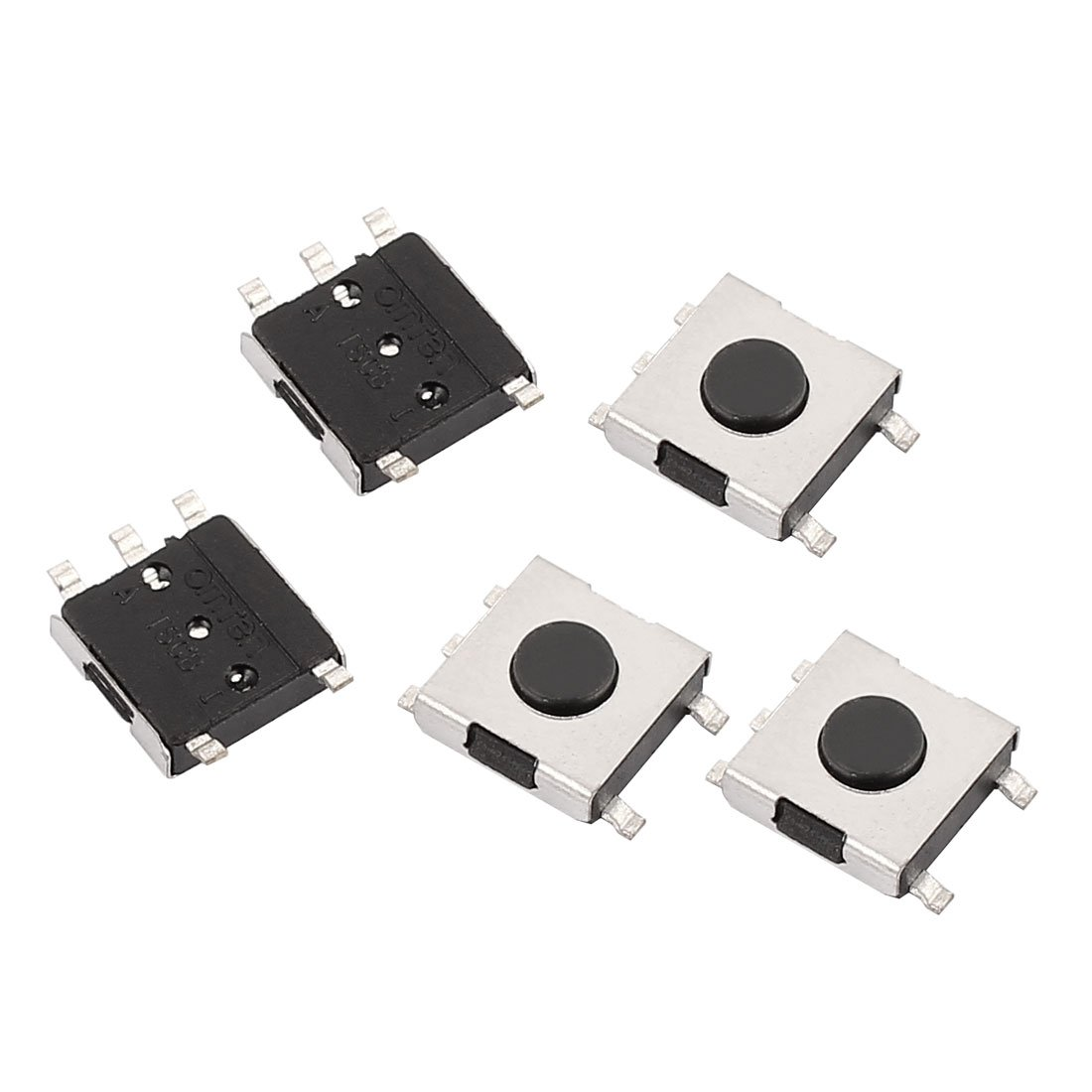 uxcell 5Pcs 6x6x3.7mm Panel PCB Momentary Normally Closed Tactile Tact Push Button Switch 5 Pin DIP