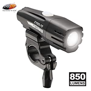Cygolite Metro– 850 Lumen Bike Light– 4 Night Modes & Daytime Flash Mode– Compact & Durable – IP67 Waterproof– Secured Hard Mount– USB Rechargeable Headlight– for Road, Mountain, Commuter Bicycles