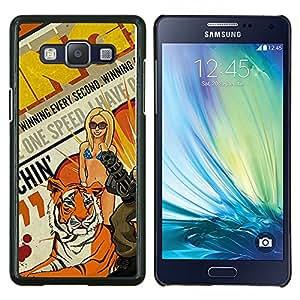 LECELL--Funda protectora / Cubierta / Piel For Samsung Galaxy A5 A5000 -- Arte pop de la vendimia --