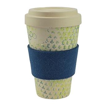Ebos Coffee To Go Becher Aus Bambus Incl Schraubdeckel Griffring