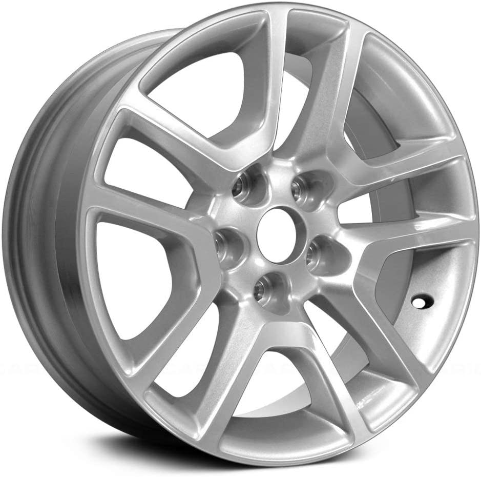 Replacement 10 Spokes Machined and Silver Factory Alloy Wheel Fits Chevy Malibu