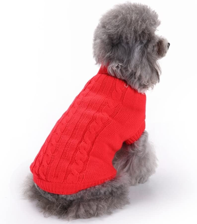 JUNGEN Pet Dogs Clothes Cats Clothes Knitted Sweater for Winter and Autumn Assorted Colours and Size Options