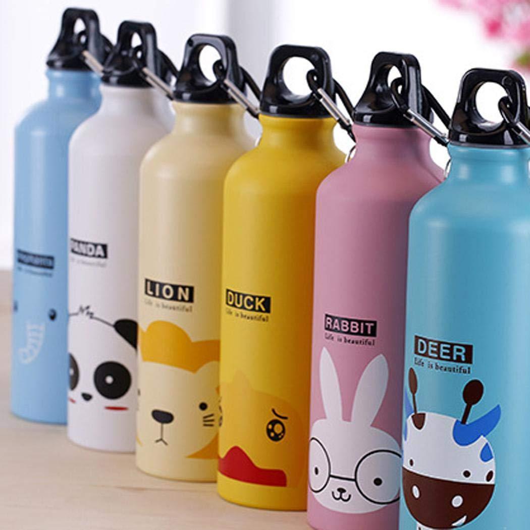 Pudrew Bottiglia dAcqua della Tazza del Thermos della Lega di Alluminio del Modello Animale del Fumetto 500mL Thermos per bibite
