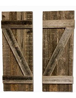 BarnwoodUSA Rustic Farmhouse Window Shutters Set Of 2