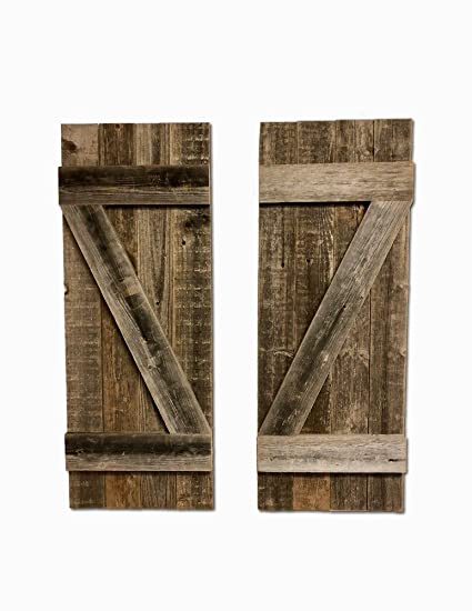 pictures of window shutters house barnwoodusa rustic farmhouse window shutters set of 2 made 100 amazoncom
