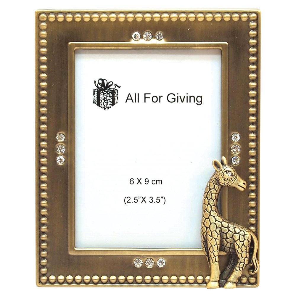 Amazon.com: All For Giving Giraffe Picture Frame, 2.5 by 3.5-Inch ...