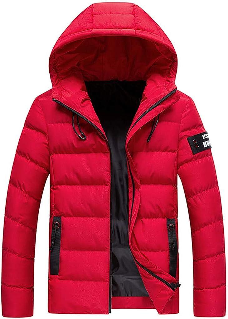 FiMi Mens Windproof Warm Softshell Fleece Shell Jacket Water-Resistant Lightweight Running Coat Hooded Windbreaker