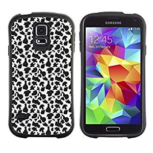 DesignCase Premium TPU / ABS Hybrid Back Case Cover Samsung Galaxy S5 V SM-G900 ( black and white )